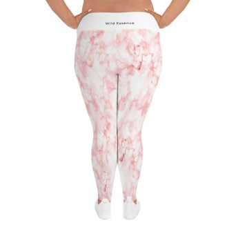 Marble Ornament Plus Size Leggings