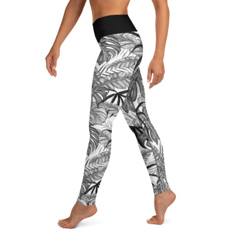 Tropical Leaf Yoga Leggings