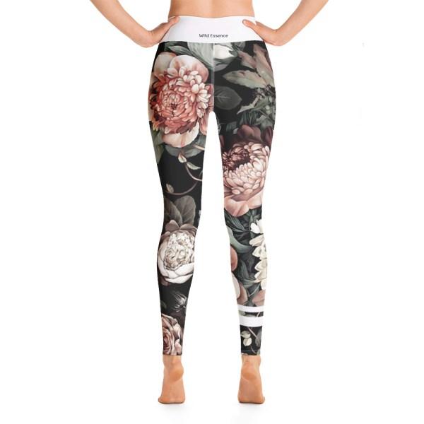 dark floral leggings