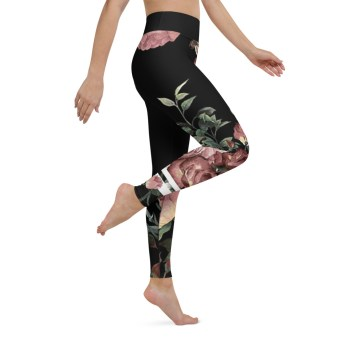 vintage floral leggings