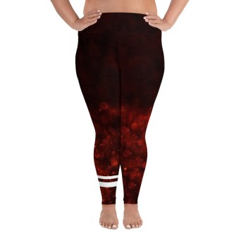 Dark Red Plus Size Pants