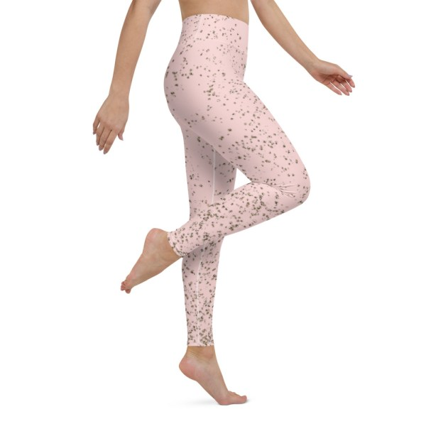 Pink Golden Yoga Leggings