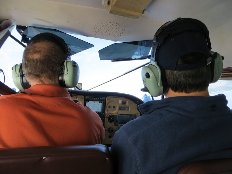 tight quarters in an AK Flightseeing Plane
