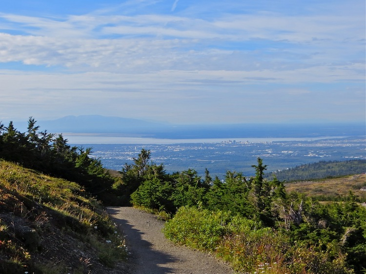 View of Anchorage Alaska from Flattop Mtn