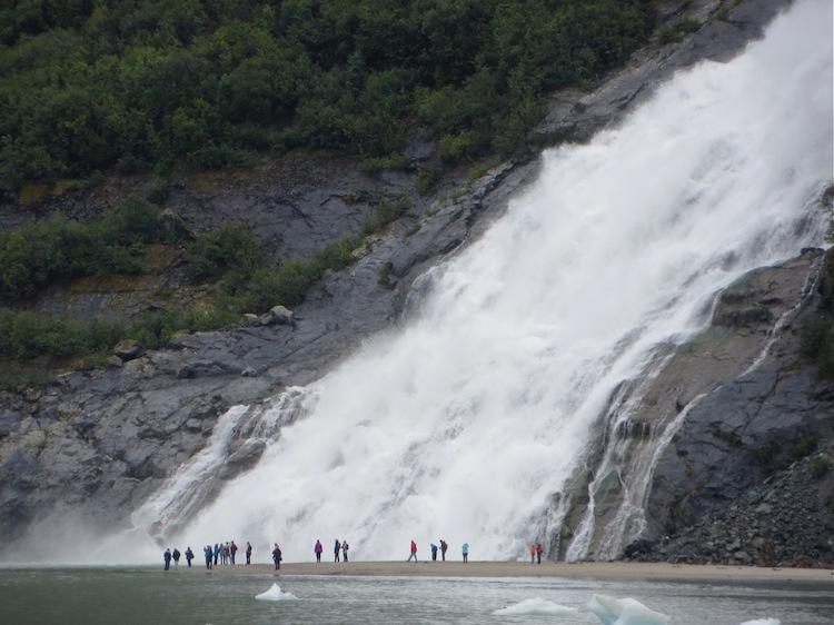Nugget Falls at Mendenhall Glacier near Juneau Alaska