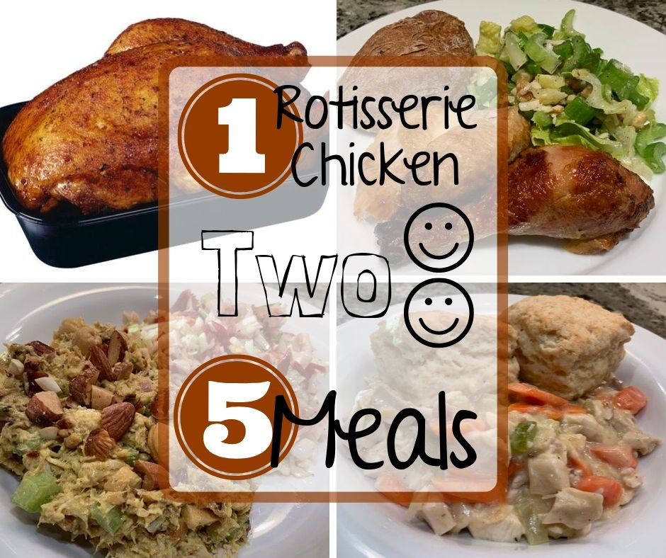 How to get 5 meals from 1 rotisserie chicken - recipes at thewildolive.org