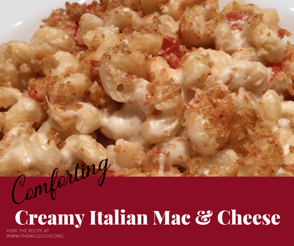 FB image for creamy Italian Mac and Cheese