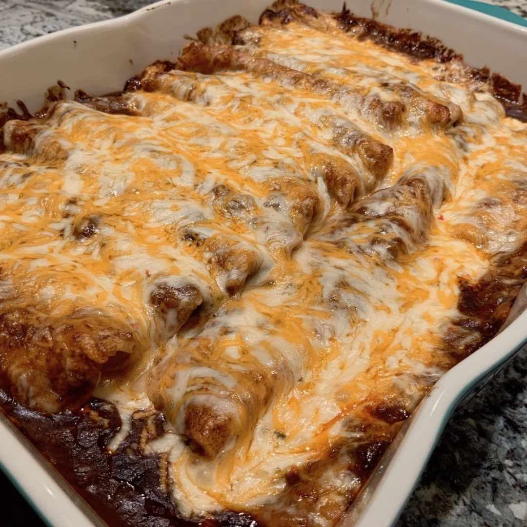 Cheese and Veggie Enchiladas | Tex Mex | Healthier Comfort Food