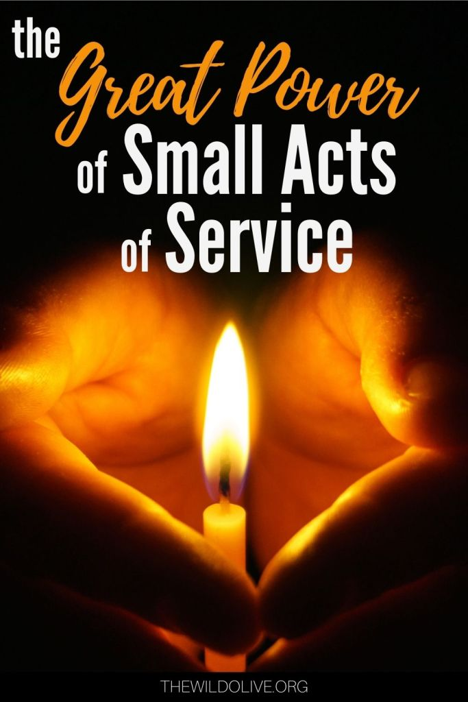 Candle illustrating great power of small acts