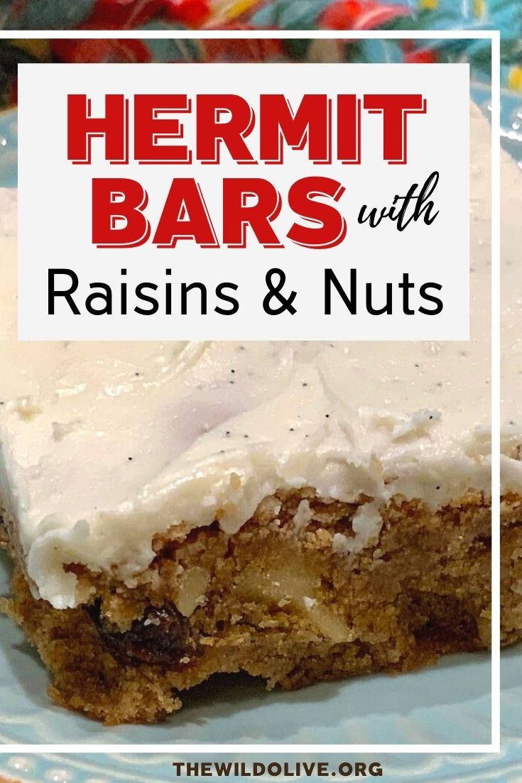 pinnable image for Hermit Bars Recipe