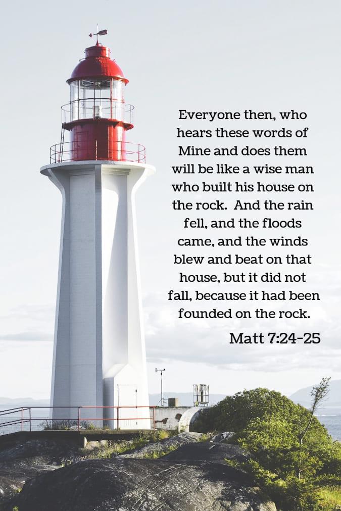 Text of Matthew 7:24-25