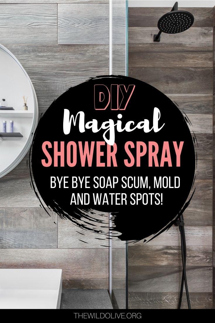 pinnable image for Homemade Shower Spray