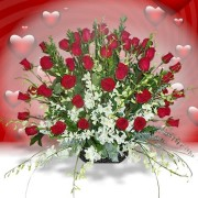 3 or 4 dozen Roses with Orchids