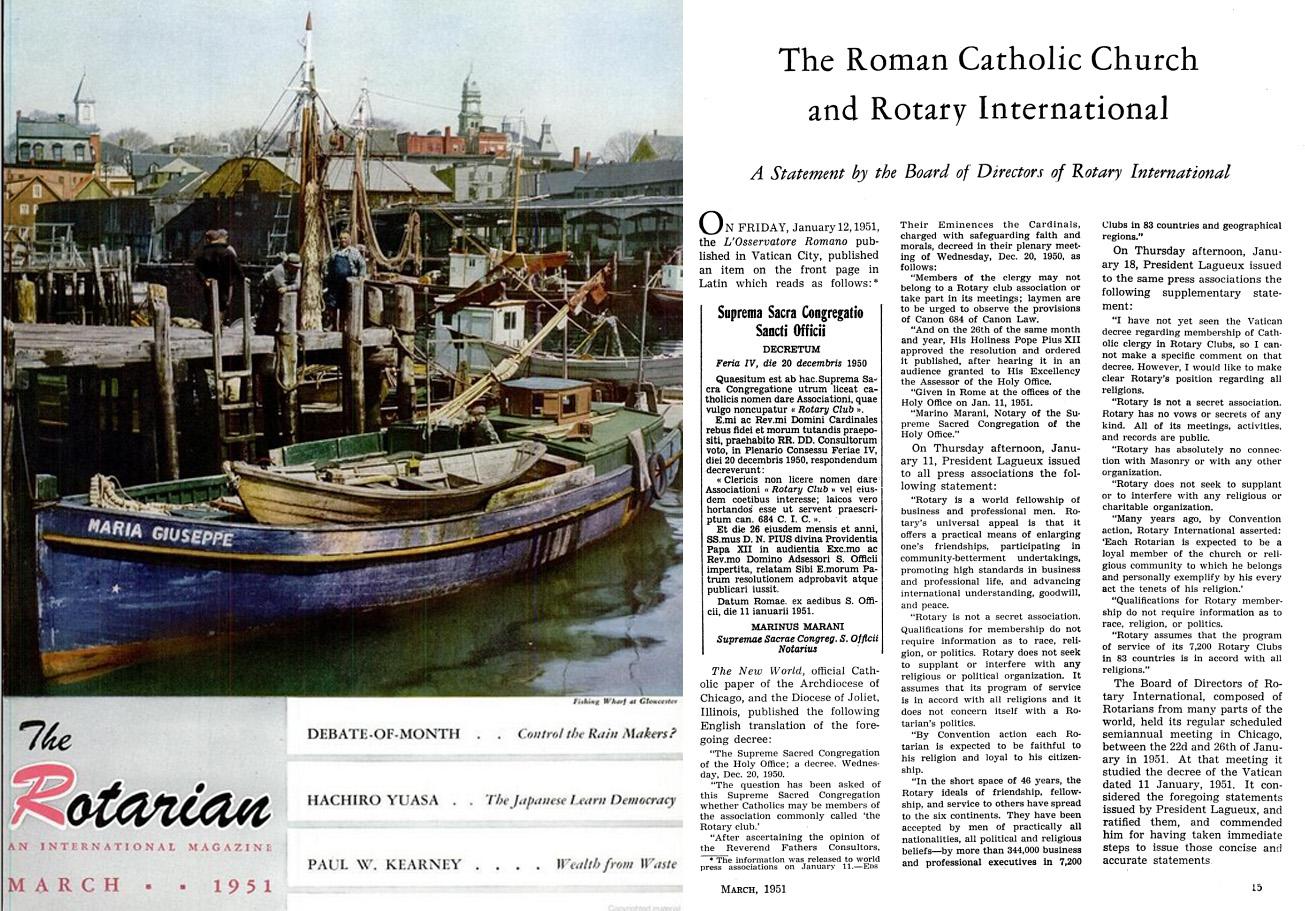 Pope Francis Rotary Club