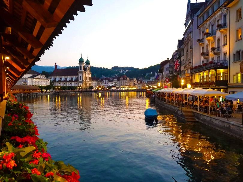 Pedestrian Bridge in Lucerne