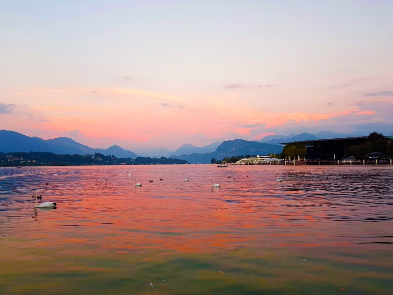 Sunset Lake Lucerne