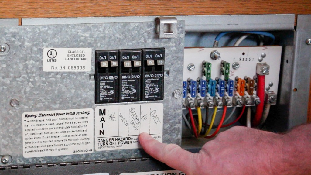 Turn power off to RV Water Heater before the flush
