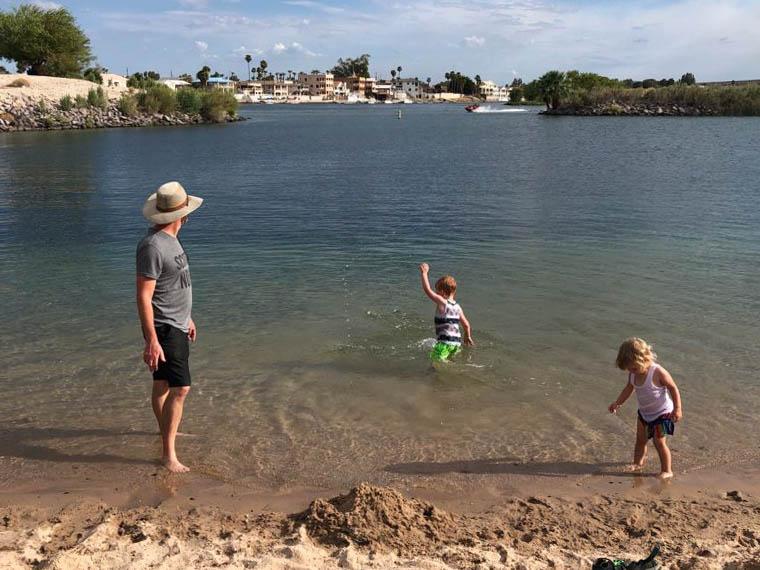 Big Bend of the Colorado River Recreation Area swimming lagoon