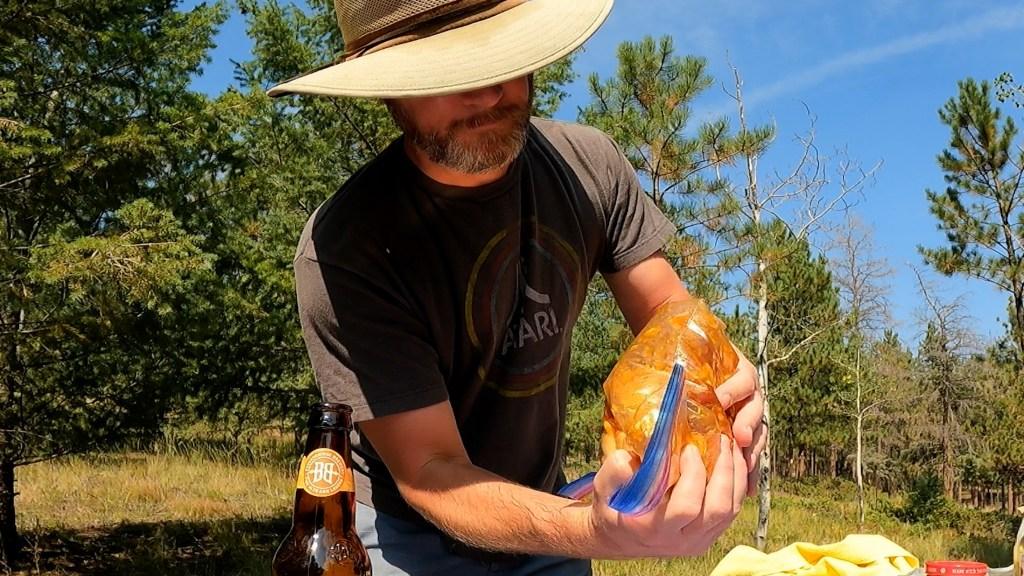 massage the Cantonese apricot marinade around the chicken