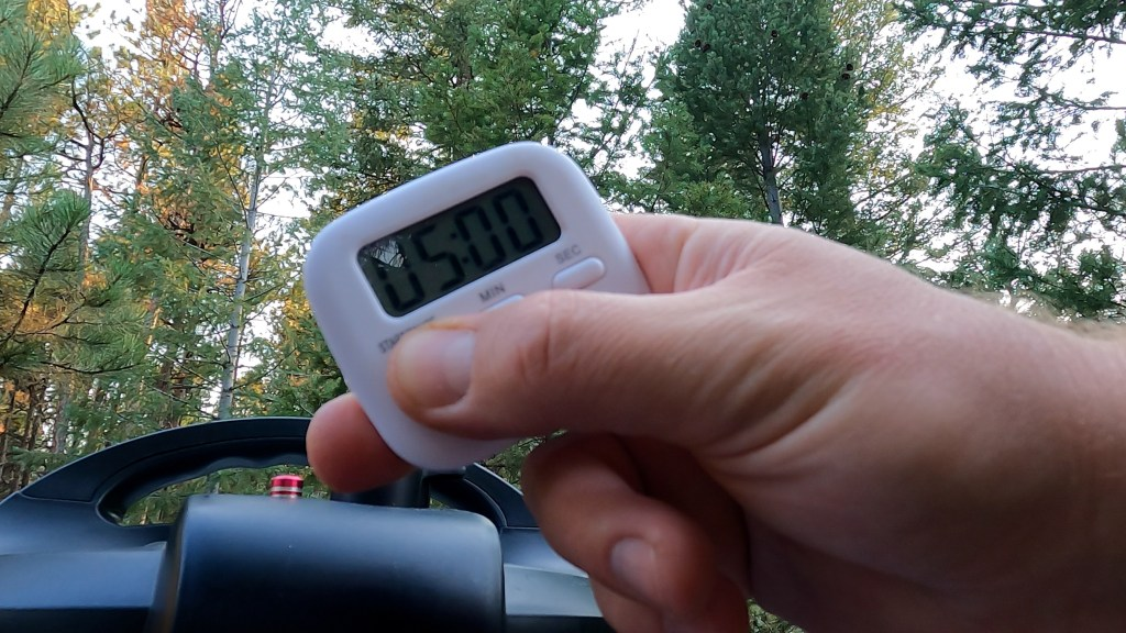 use a kitchen timer for your 5 minutes of natural pressure release