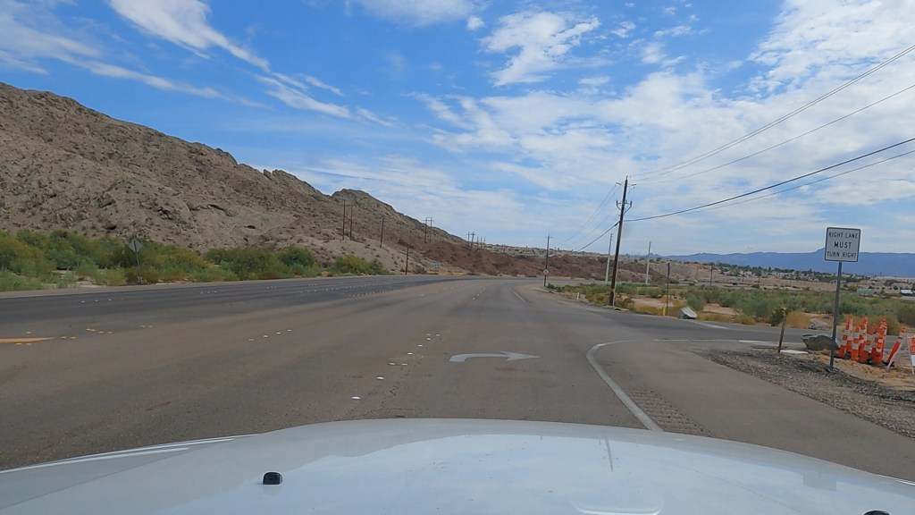 Just pulling up to the turn into Big Bend of the Colorado River Recreation Area