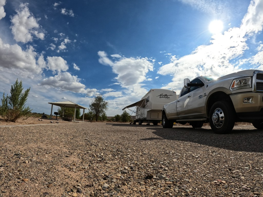 Ferd and Lorain camped at Big Bend of the Colorado River Campground