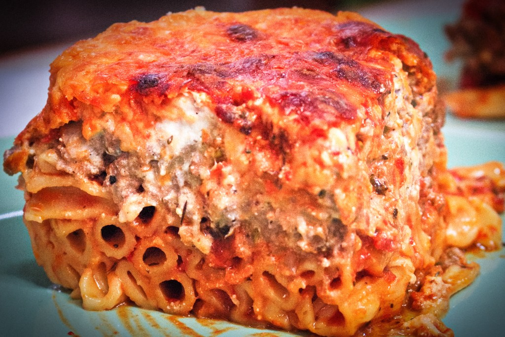 this is our baked ziti made in our spring form pan pressure cooked in the instant pot.