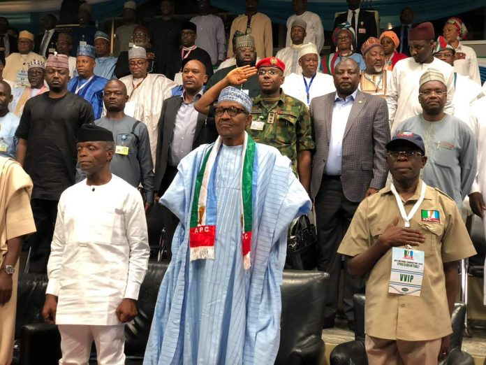 Image result for 14.8 million APC members endorse Buhari