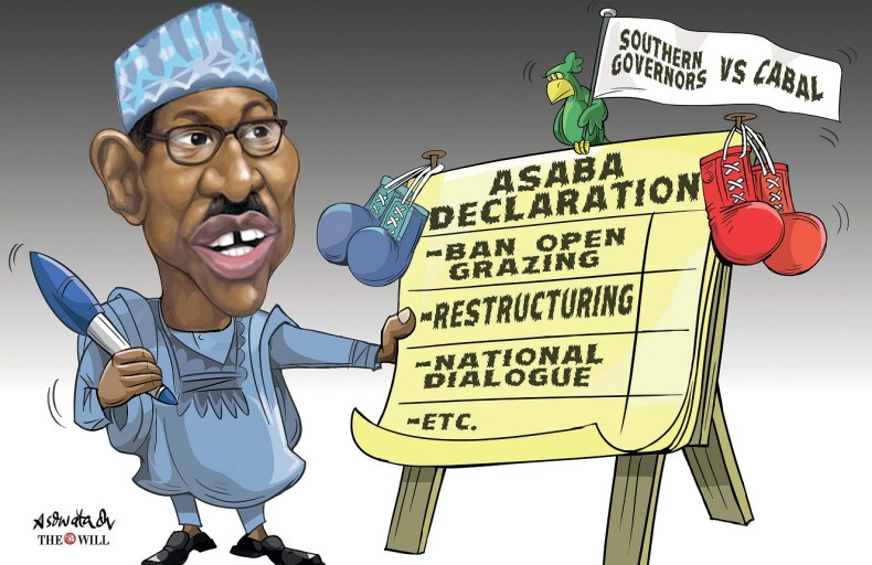 ASABA DECLARATION:Will Buhari Budge On Open Grazing Ban, Restructuring, Others?