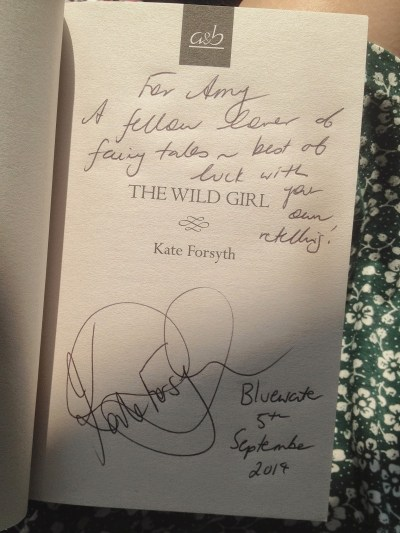 Kate Forsyth The Wild Girl signed