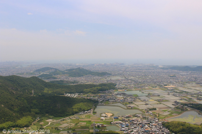 Aerial view of Takasago town
