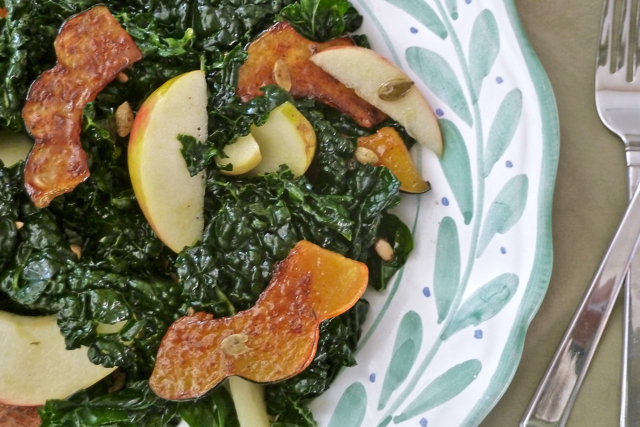 Caramelized Acorn Squash and Kale Salad