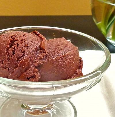 cinnamon cardamom chocolate sorbet