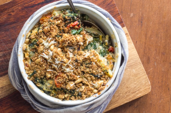Rainbow Chard and Quinoa Gratin