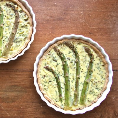 low-fat quiche, ricotta, spring asparagus quiche