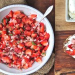 Refreshing easy appetizer strawberry salsa