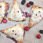 Blackberry Cherry Turnovers 2 : The Wimpy Vegetarian