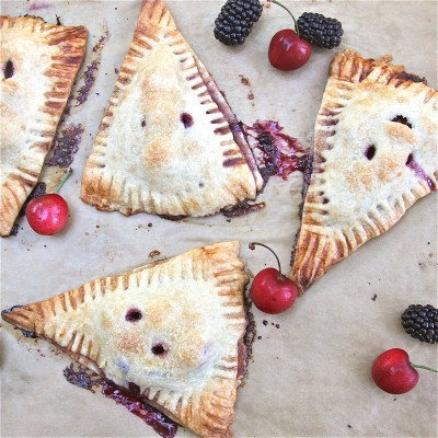 Blackberry-Cherry Turnovers