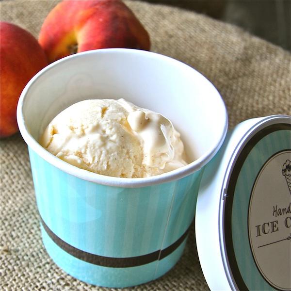 Peaches and Honey Frozen Yogurt: The Wimpy Vegetarian