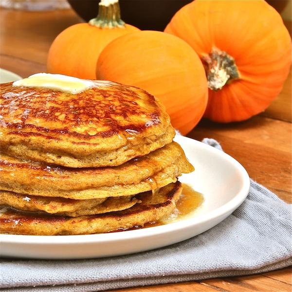 Pumpkin Ricotta Pancakes : The Wimpy Vegetarian