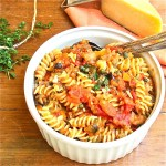 Sicily Goodness- Fusilli with Eggplant, Tomatoes and Capers: The Wimpy Vegetarian