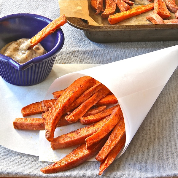 Spiced Sweet Potato 'Fries' - The Wimpy Vegetarian