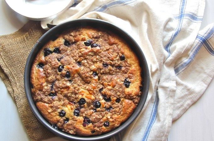 lightened blueberry coffeecake