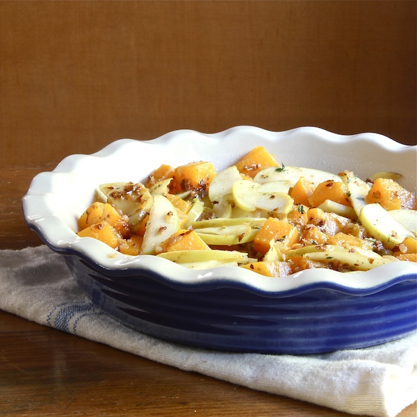 butternut squash and apple crumble, vegetarian side dish, Thanksgiving