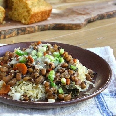 vegetarian Hoppin' John a traditional New Years Day dish for good luck