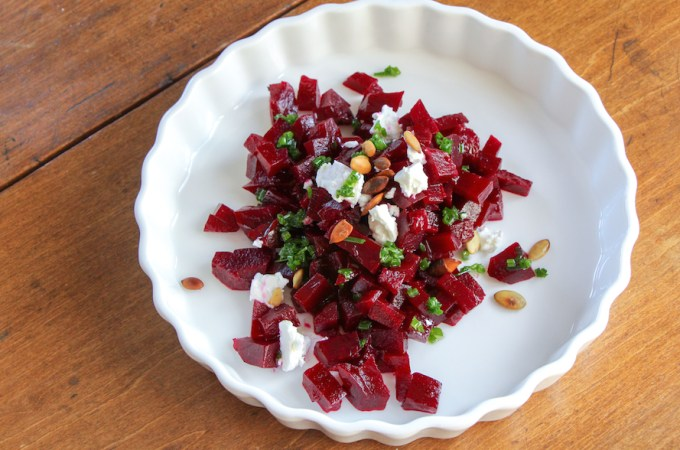 Pickled Beet Salad with Chive Oil