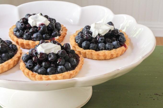 Mom's Glazed Blueberry Tarts