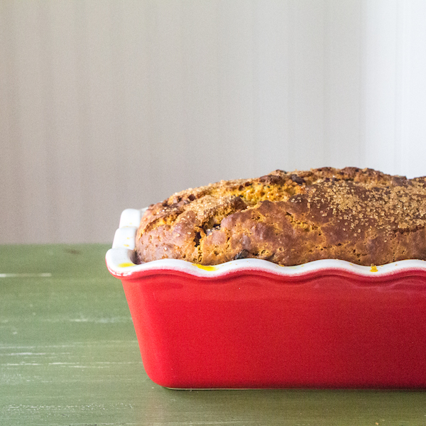 Pumpkin Loaf with Cranberries and Chocolate Chips