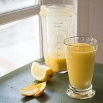 Orange mango ginger smoothie