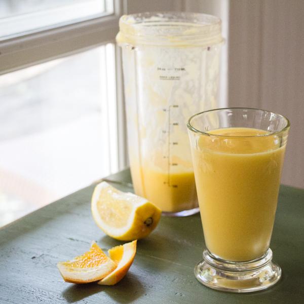 Orange mango ginger smoothie